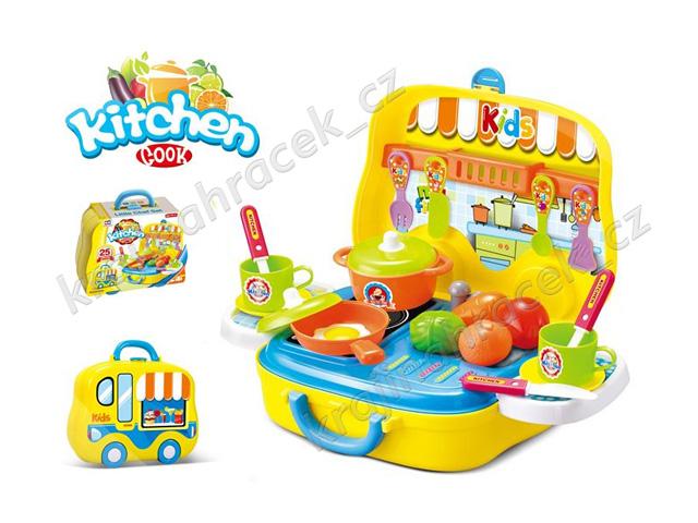 Kuchařské náčiní v kufříku na kolečkách pojízdná kuchyňka