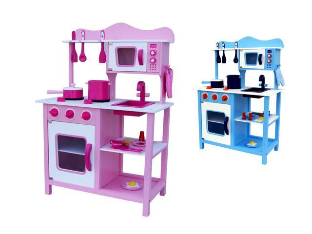 Dětská dřevěná kuchyňka kuchyň + doplňky