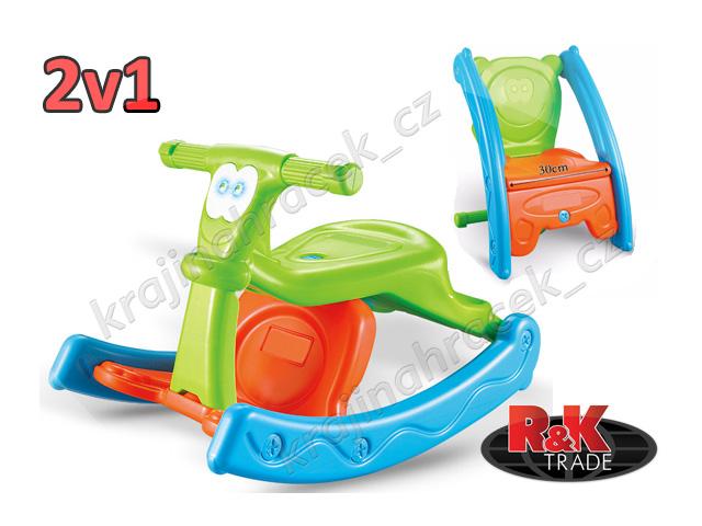Multifunkční houpačka židlička 2 v 1 pro děti
