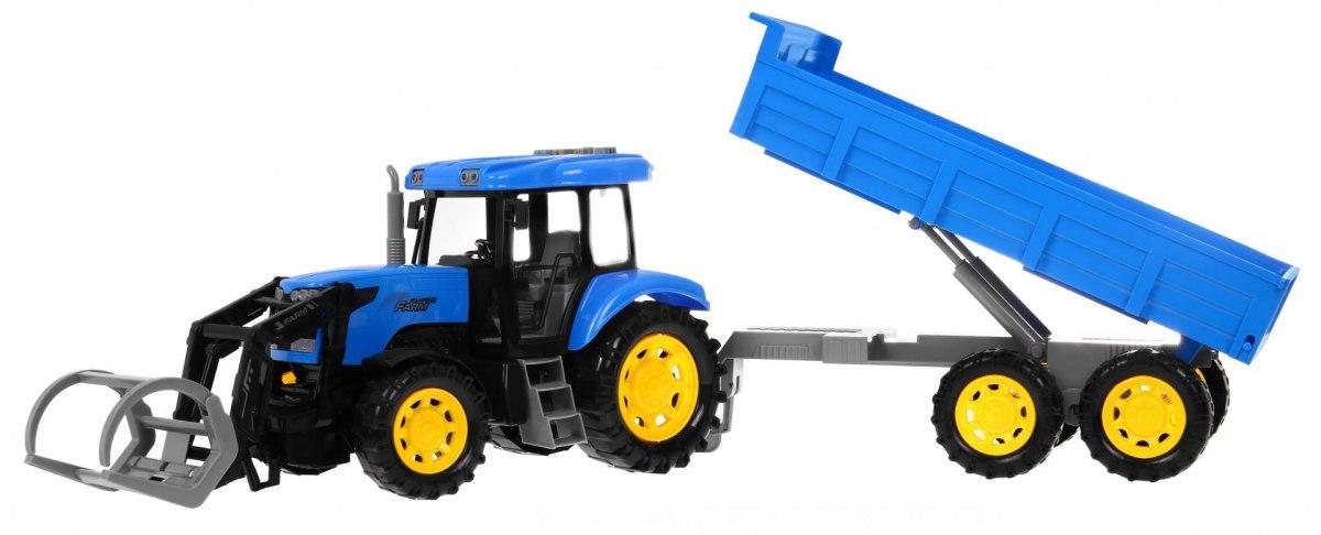Traktor s návěsem a vyměnnými díly