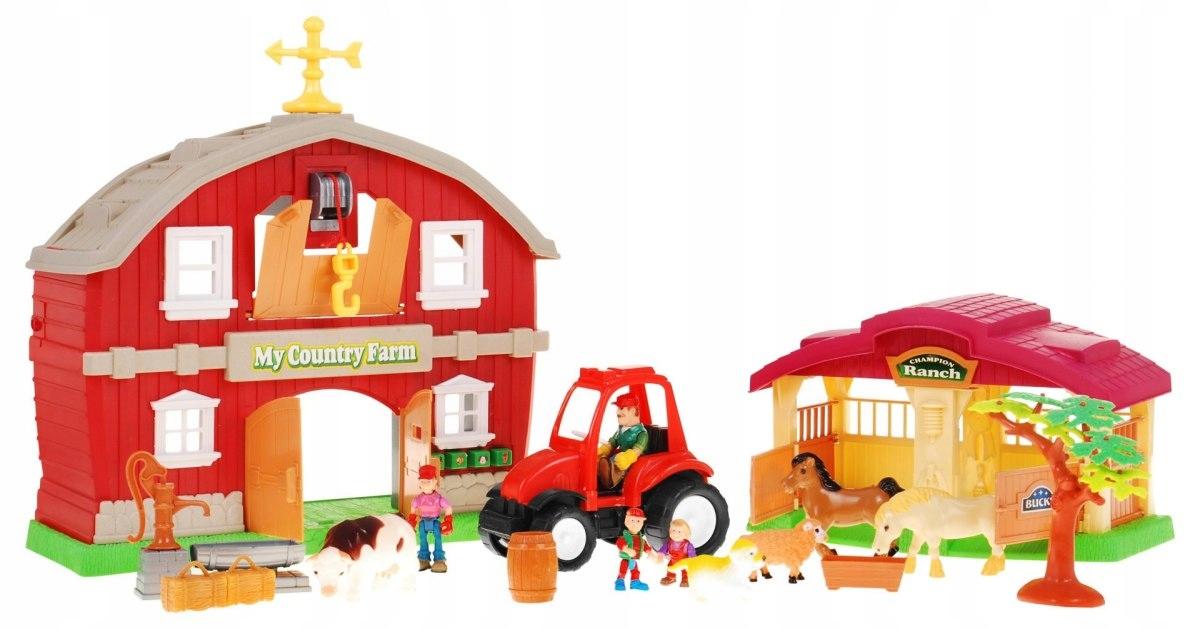 Velká farma statek + traktor zvířátka a figurky