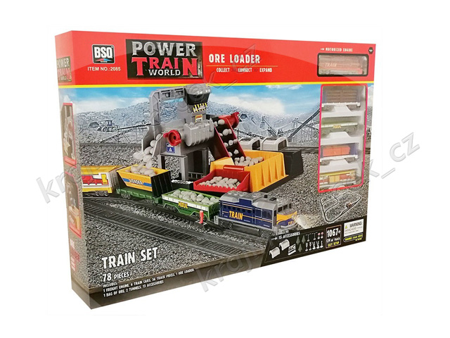 Vlačkodráha nákladní vlak mašinka na baterie + důl