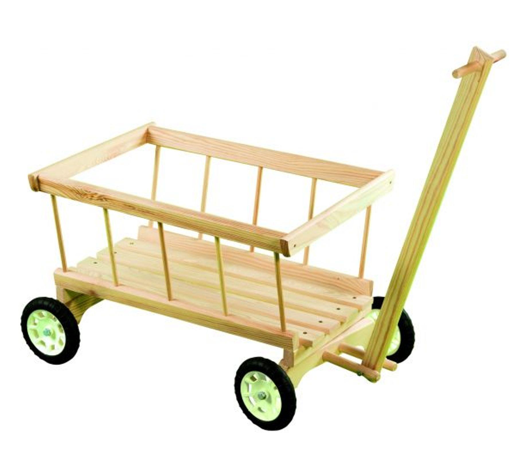 Dřevěný vozík na hračky 2391