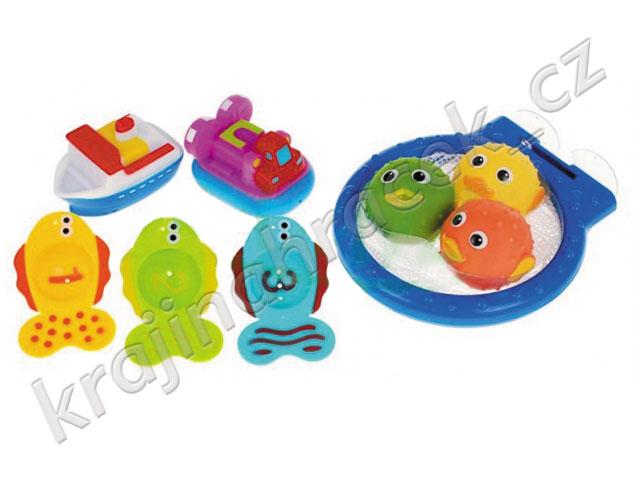 Krabí dobrodružství krab hračka do vany vody do koupele + loďky