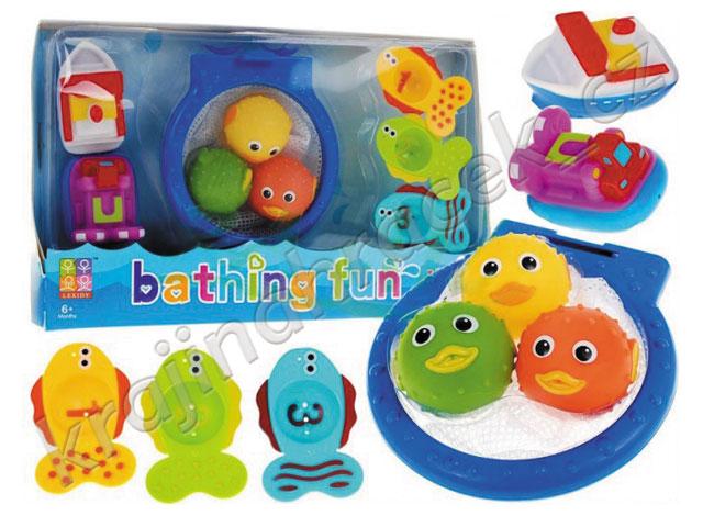 Vodní basketbal hračka do vany vody do koupele + rybičky