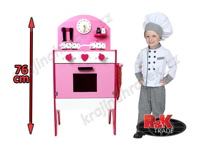 Dětská dřevěná kuchyňka kuchyň s doplňky