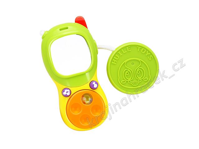 Huile Toys štěrkátko interaktivní telefon se zrcátkem pro nejmenší