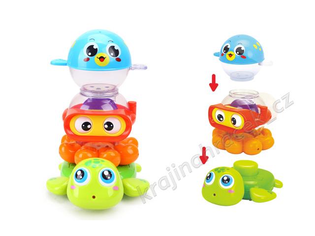 Huile Toys sada hraček do vody s pohyblivými očky fontána