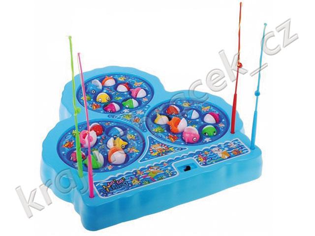 Sada pro rybaření dětská společenská hra + rybářský prut
