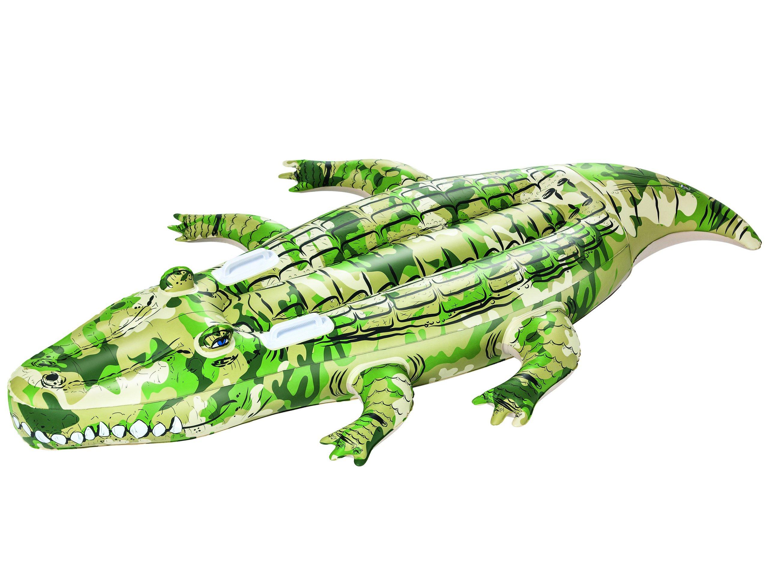 Bestway dětské nafukovací lehátko surf maskačový krokodýl na vodu