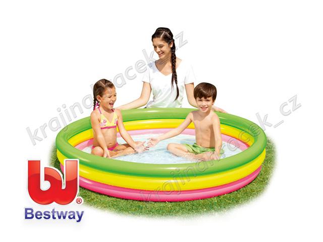 Bestway dětský nafukovací bazének bazén 152 / 30 cm měkoučká podlaha