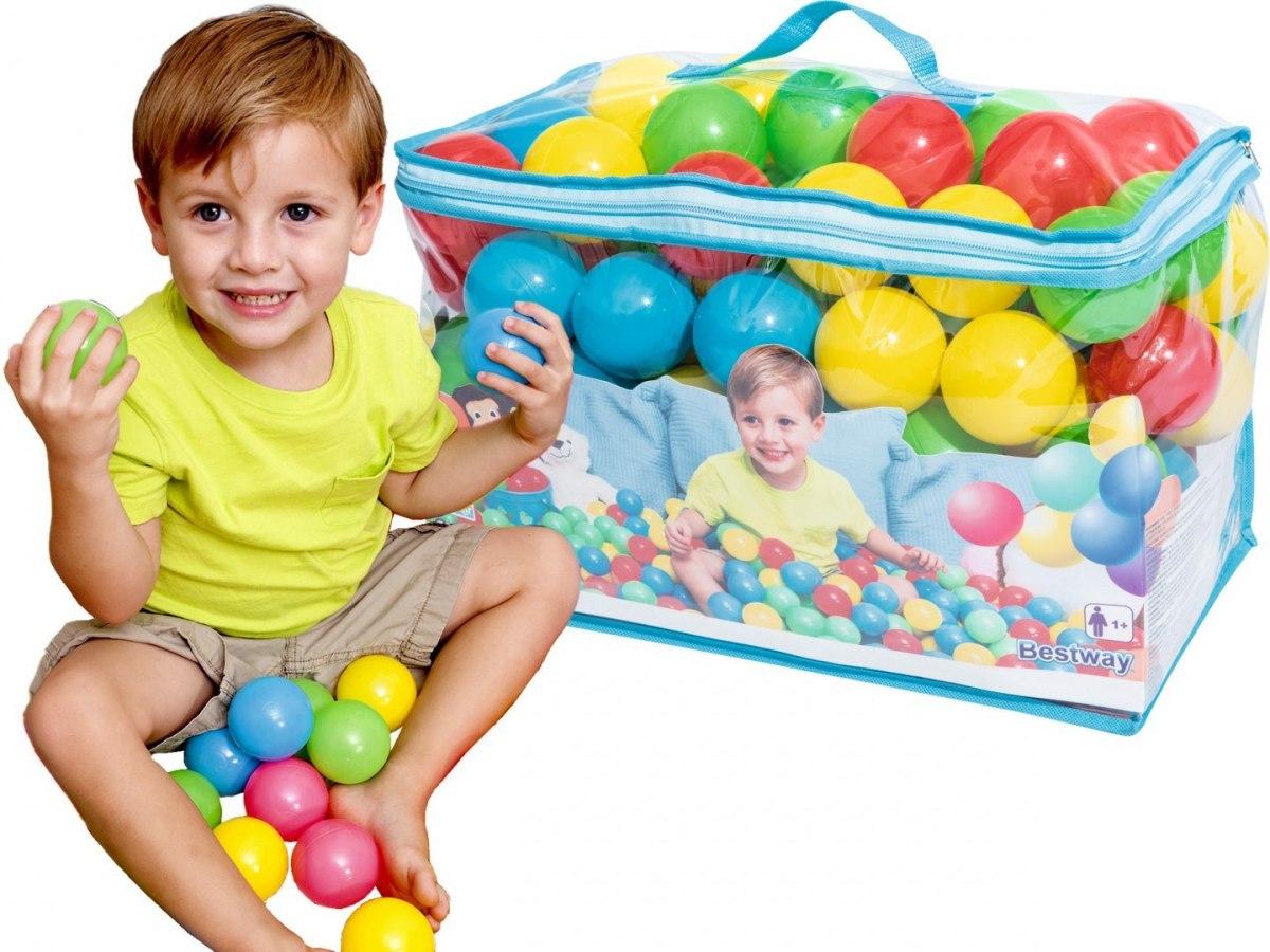 100 ks barevné míčky balónky do bazénu do stanu