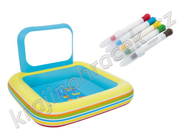Bestway dětský nafukovací bazének s tabulí + fixy