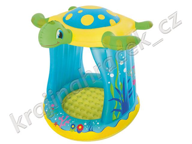 Dětský nafukovací bazének brouzdaliště se stříškou želva