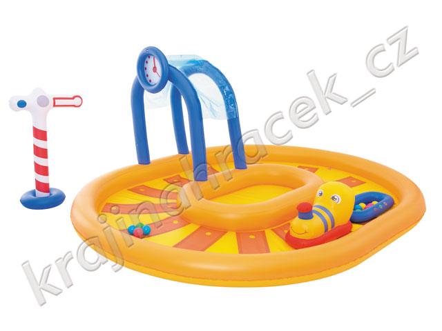 Dětský nafukovací bazének bazén vláček