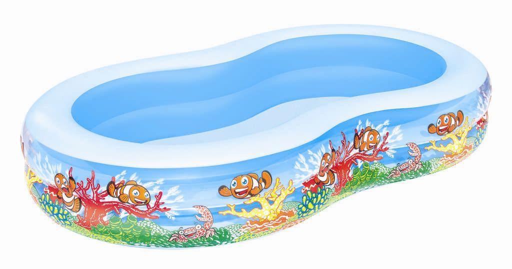 Bestway dětský nafukovací bazének s veselými motivy rybiček 262/157/46 cm 54118