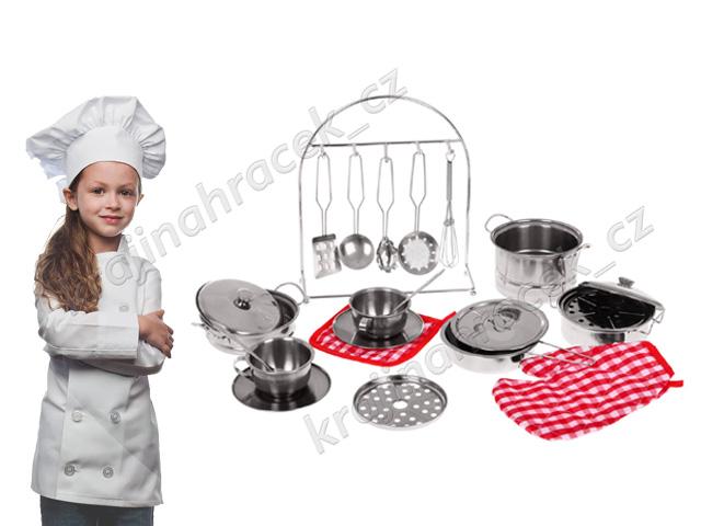 Dětské kovové nádobí doplňky pro dětská kuchyňka