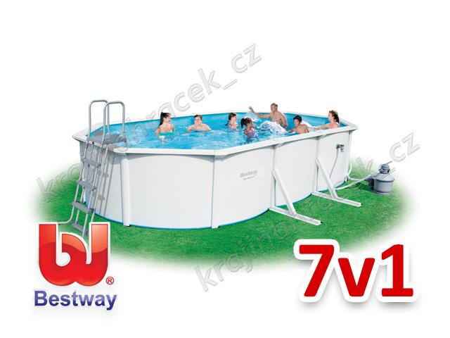 Bestway zahradní panelový bazén 610/360/120 cm 7 v 1 56369