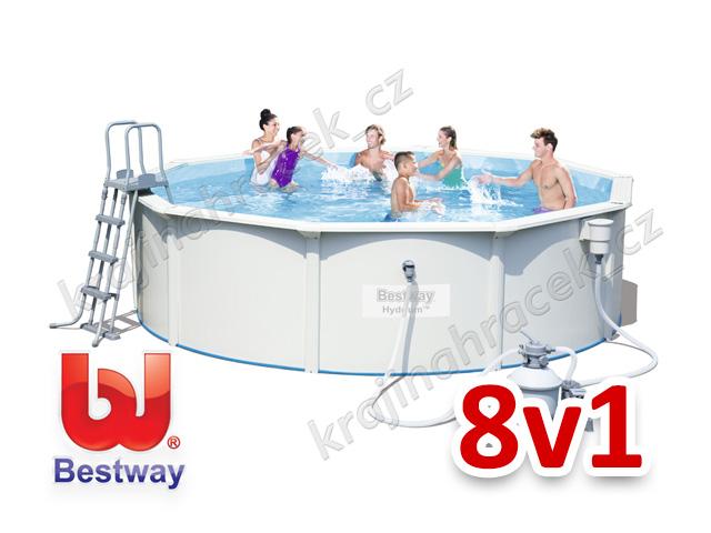 Bestway zahradní panelový bazén 460/120 cm 8 v 1 56384