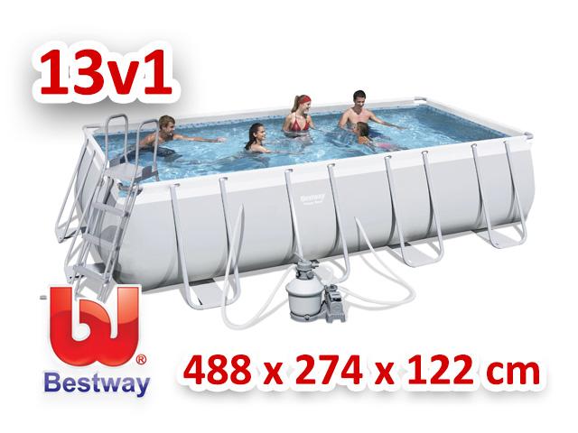 Bestway zahradní bazén 488/274/122 cm 13 v 1 56390