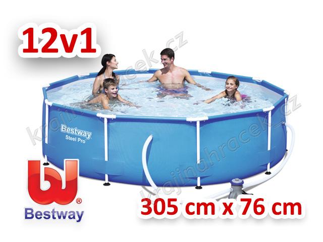 Bestway zahraní bazén s konstrukcí 305 cm x 76 cm 12 v 1 56408