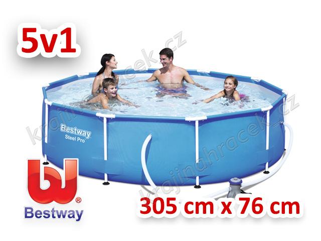 Bestway zahraní bazén s konstrukcí 305 cm x 76 cm 5 v 1 56408