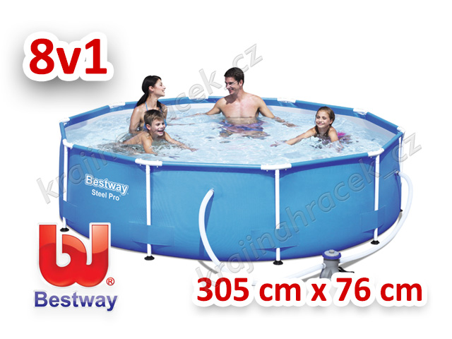 Bestway zahraní bazén s konstrukcí 305 cm x 76 cm 8 v 1 56408