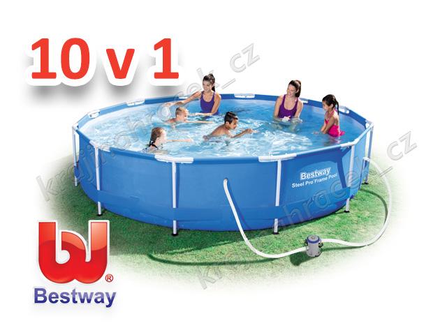 Zahradní bazén bestway 366 x 76 cm 10 v 1 56416