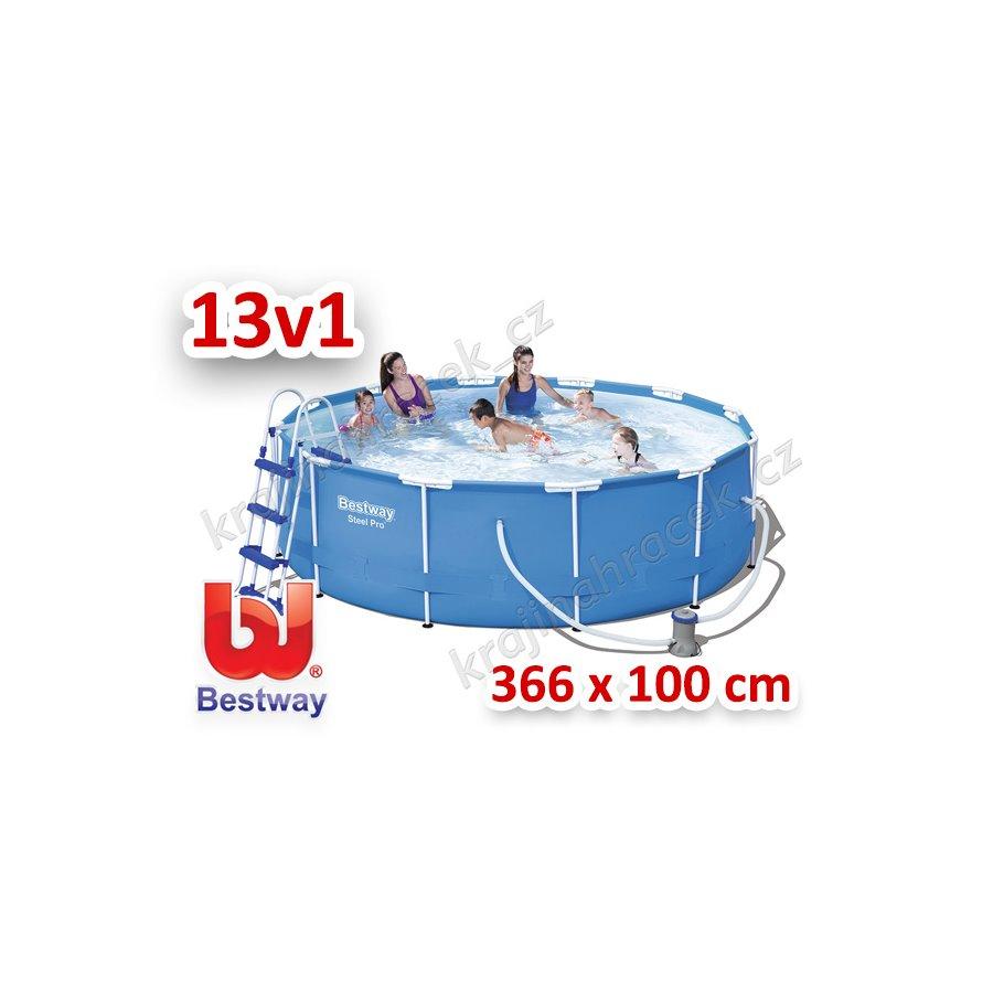 Bestway zahradní bazén 366 cm x 100 cm 13 v 1 56418