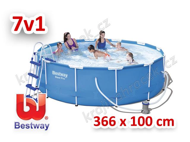 Bestway zahradní bazén 366 cm x 100 cm 7 v 1 56418