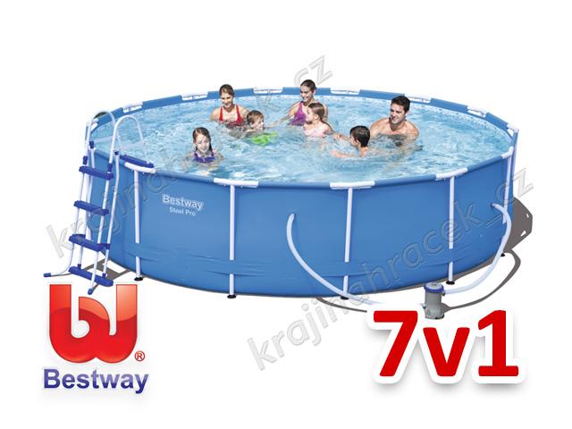 Bestway zahradní bazén 427 / 100 cm 7 v 1 56422