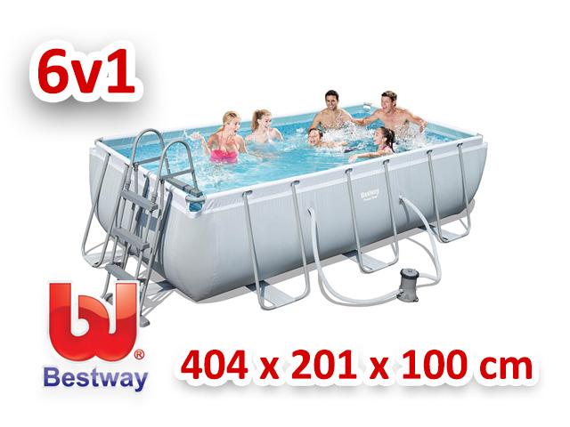 Bestway zahradní bazén 404/201/100 cm 6 v 1 56441