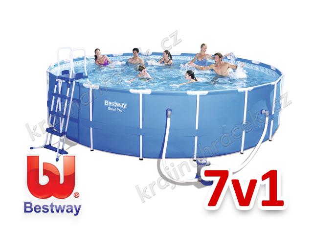 Bestway zahradní bazén 549/122 cm 7 v 1 56462