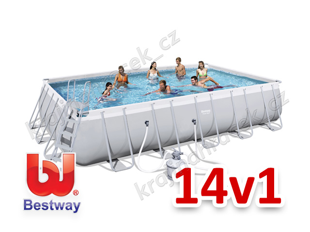 Bestway zahradní bazén 671x 366 x 132 cm 14 v 1 56471