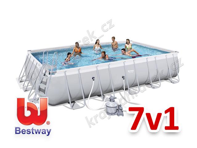 Bestway zahradní bazén 671 x 366 x 132 cm 7 v 1 56471