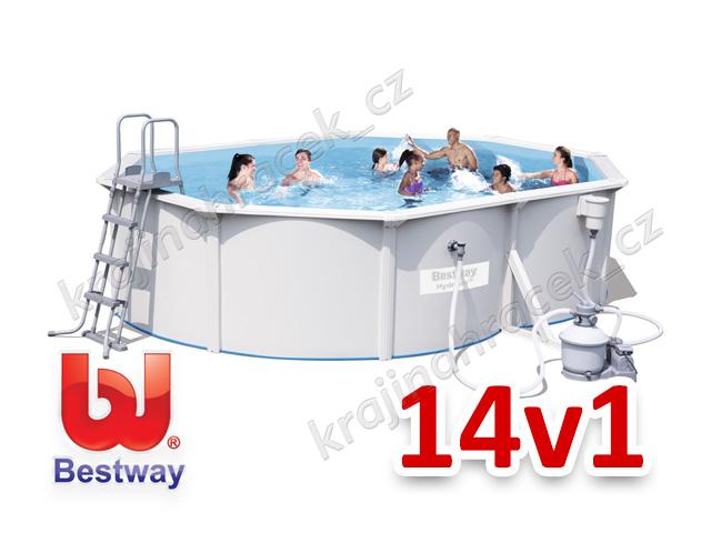 Bestway zahradní panelový bazén 500/360 cm 14 v 1 56586