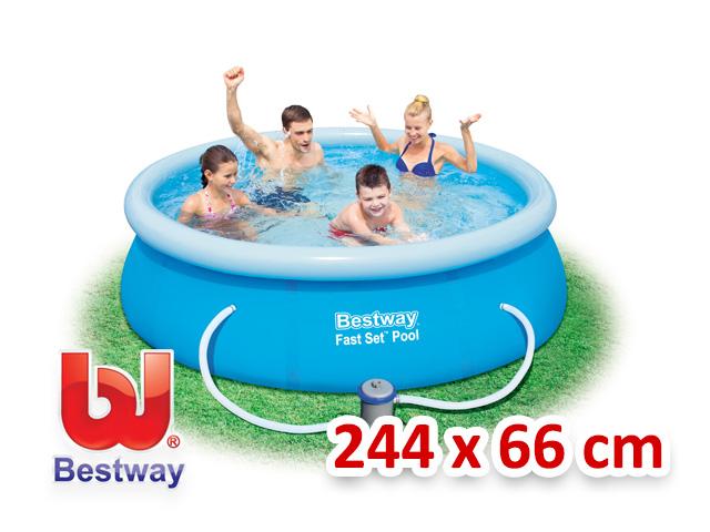 Bestway zahradní bazén s nafukovacím límcem 244/66 cm 4v1