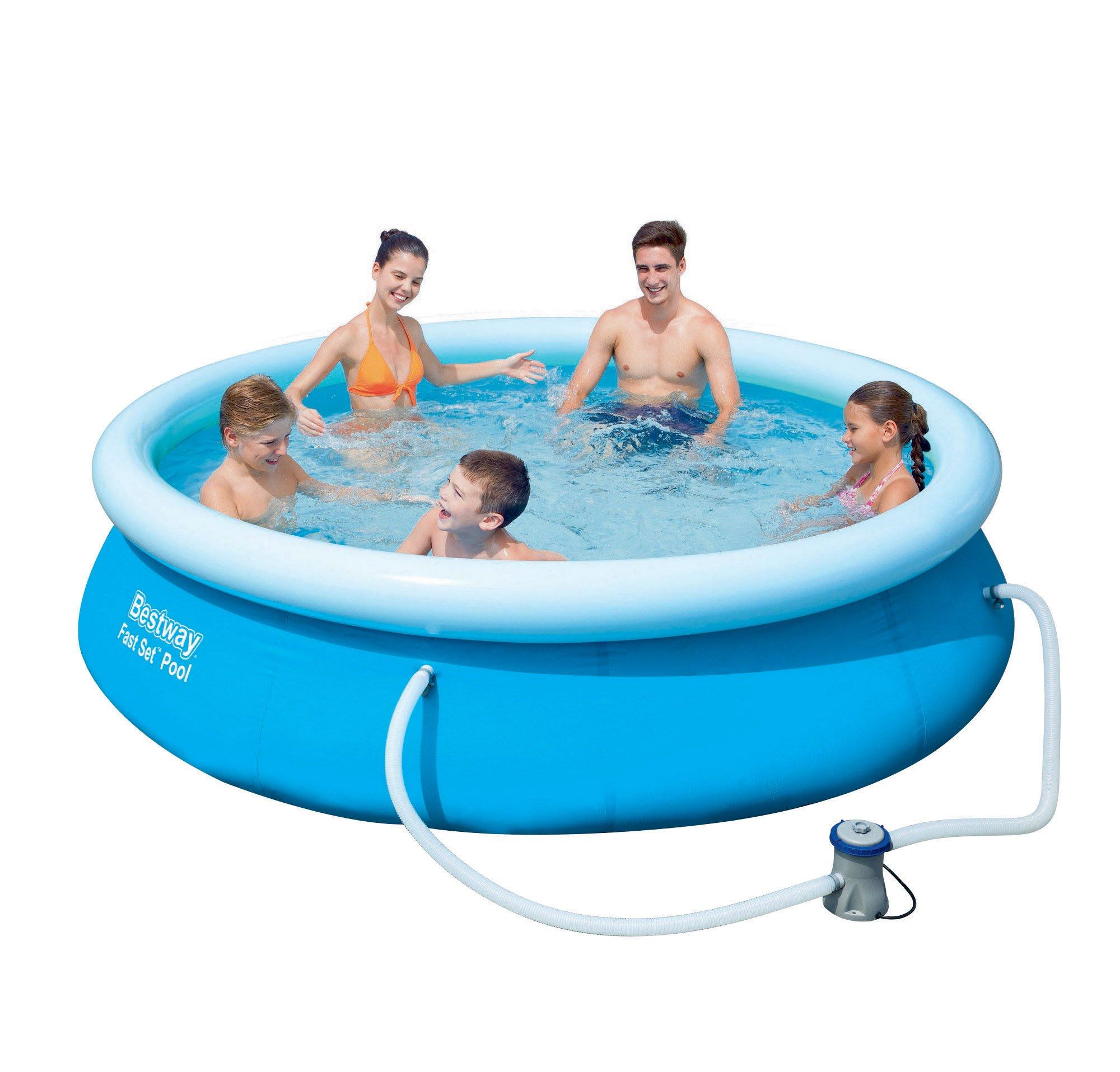 Bestway 57270 Zahradní bazén s nafukovacím límcem 305x76 cm 4v1