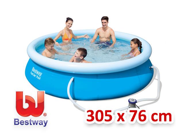 Bestway zahradní bazén s nafukovacím límcem 305/76 cm