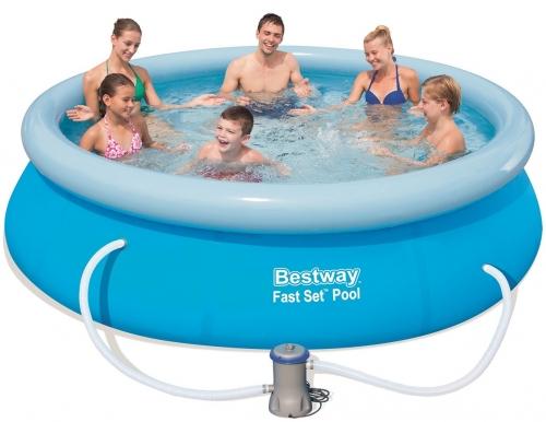 Bestway 57274 Zahradní bazén s nafukovacím límcem 366 x 76 cm