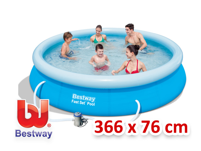 Bestway zahradní bazén s nafukovacím límcem 366/76 cm 4v1