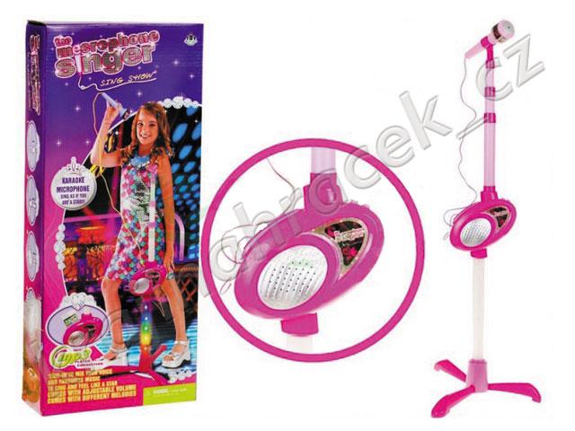Dětský interaktivní karaoke mikrofon se stojanem