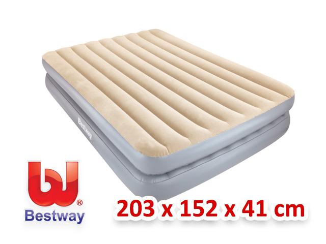Bestway velká velurová nafukovací matrace + pumpička