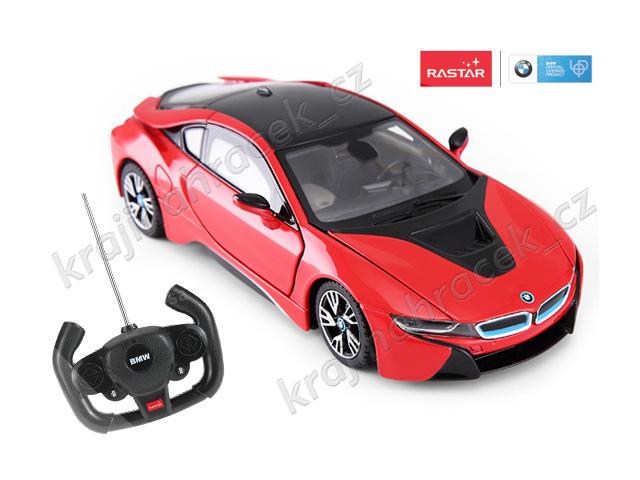 Rastar BMW i8 1:14 auto autíčko na dálkové ovládání R/C červená