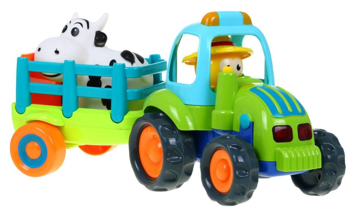 Interaktivní traktor se zvukovými efekty farmář a kravička