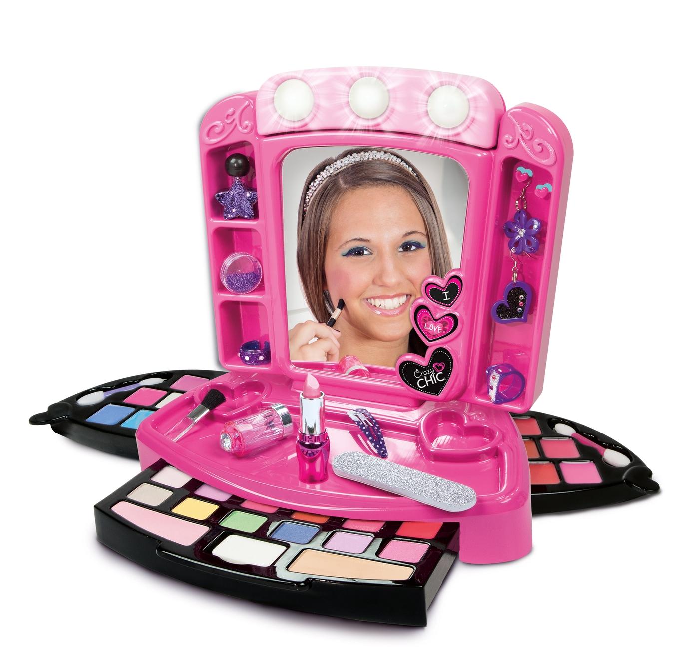 CLEMENTONI Crazy Chic sada kosmetika make up líčení líčící paletka kufřík