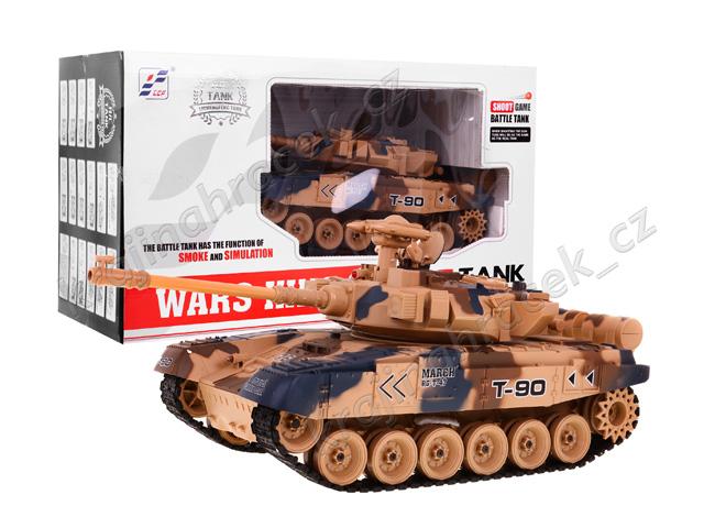 Tank s dýmem na dálkové ovládání T90 velikost 1:18