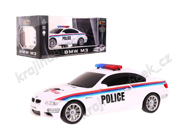 Policejní auto na dálkové ovládání BMW M3 1:18 27MHz R/C policie