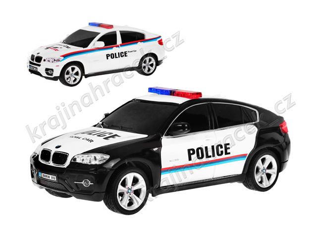 Policejní auto na dálkové ovládání BMW X6 1:24