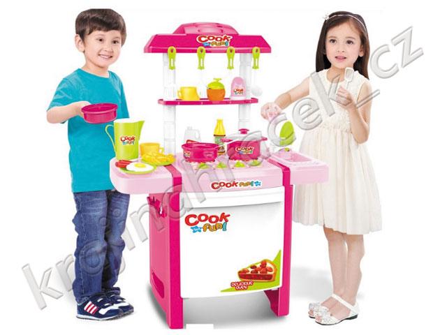 Zábavná dětská kuchyňka na baterie 889-57
